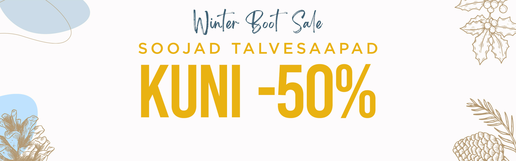 Boot sale up to -50%